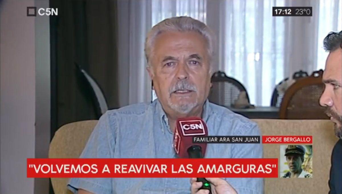 El pedido de un padre de la tripulación del ARA San Juan: Que los dejen descansar en paz donde están