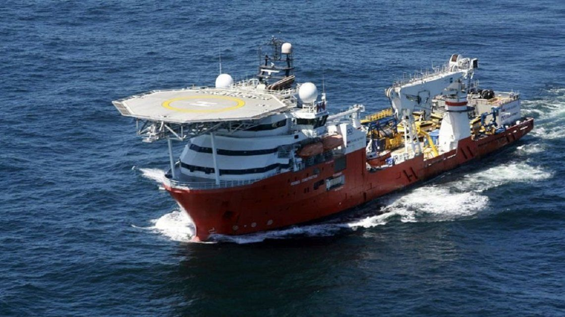 El Seabed Constructor partió rumbo a Sudáfrica tras el hallazgo del ARA San Juan