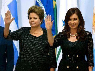 José Mujica,Dilma Rousseff y Cristina Kirchner