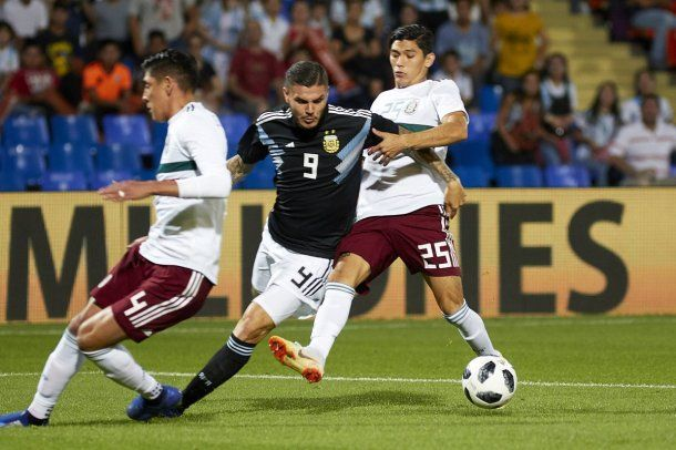 Icardi en Argentina vs México - Crédito: @Argentina