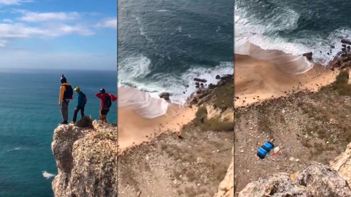 Se lanzó al vacío desde 100 metros, le falló el paracaídas y murió