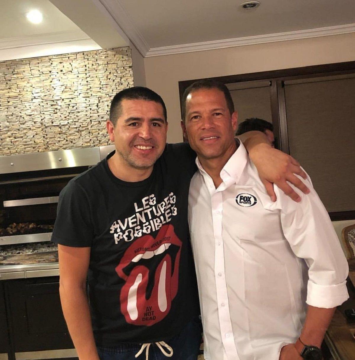 Juan Román Riquelme y Óscar Córdoba