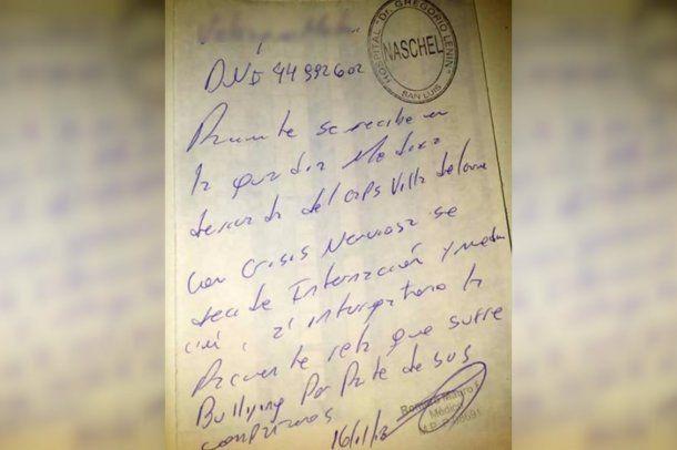 La mamá de la víctima posteó una foto de su hija en el hospital y el certificado médico.<div><br></div><div><br></div><div><br></div>