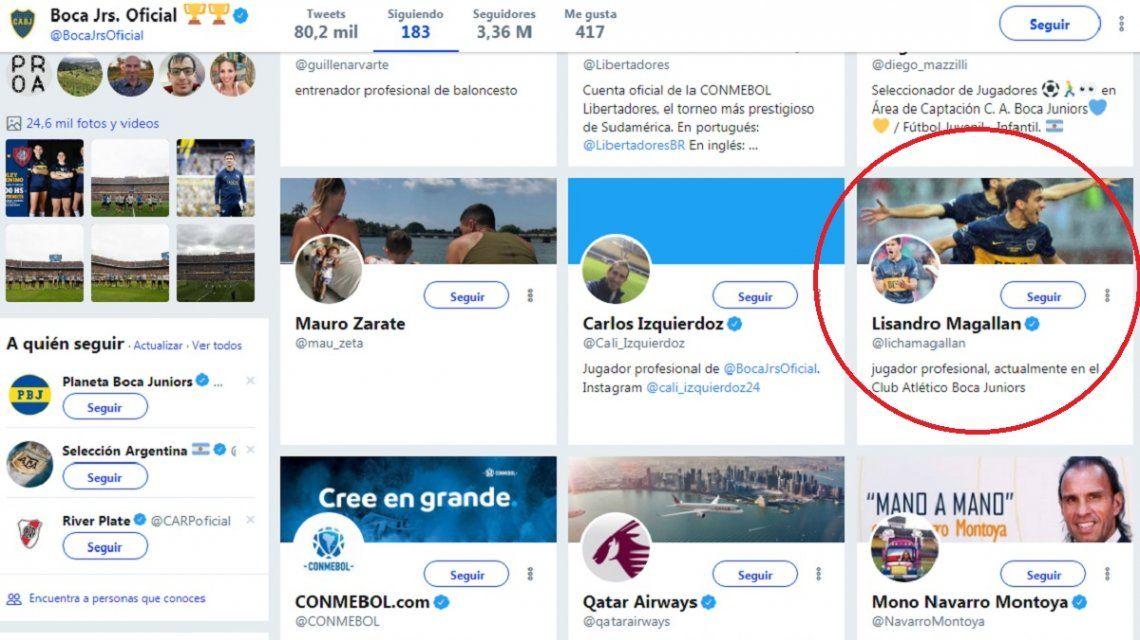 El confuso mensaje de Boca en sus redes sociales: ¿sigue al usuario falso de un jugador?