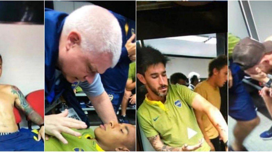 Así atendían a los jugadores de Boca en el vestuario visitante del Monumental