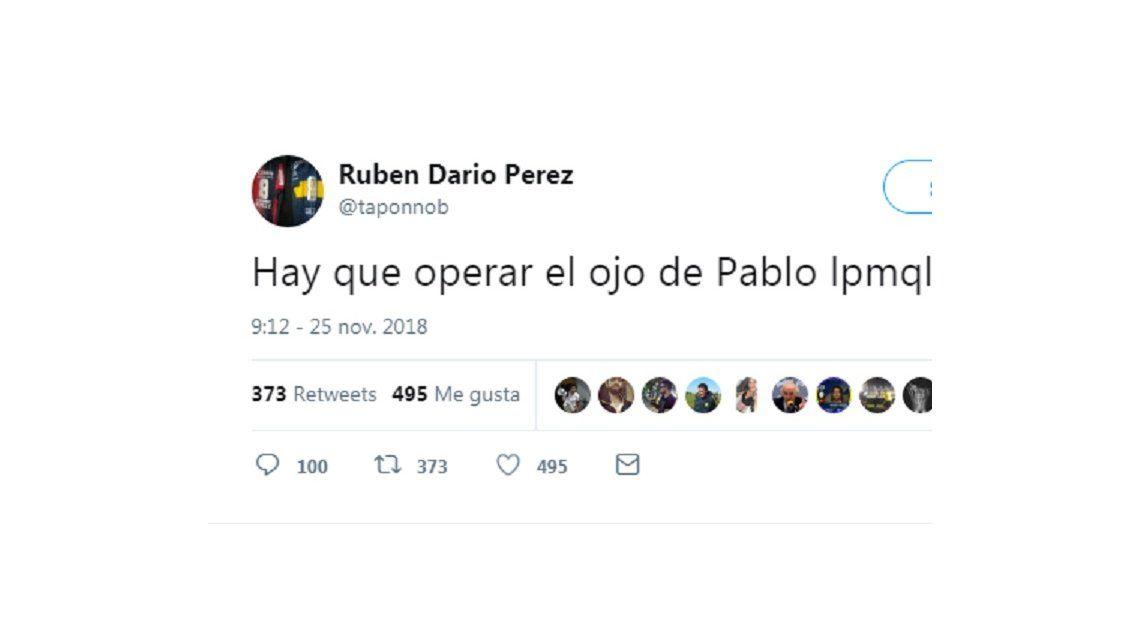 Pablo Pérez deberá ser operado del ojo tras el ataque de los hinchas de River