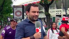 El móvil más bizarro en el Superclásico: un periodista español completamente borracho