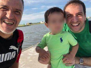 Leonardo Polti e Ignacio Santalla junto a su hijo Juan Pablo