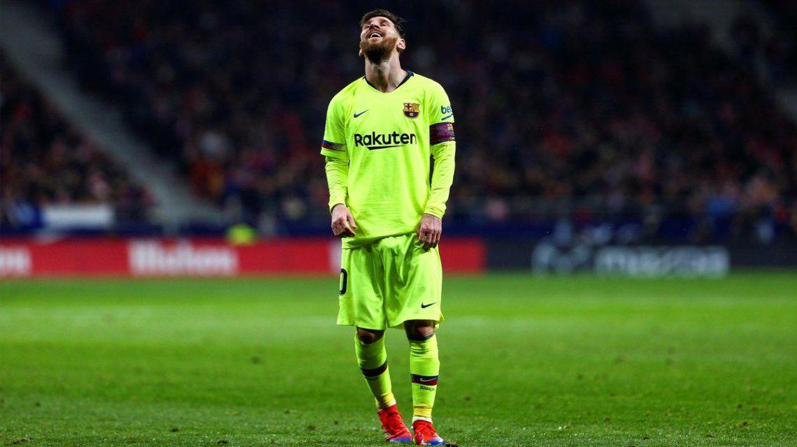 Lionel Messi la rompió contra el PSV