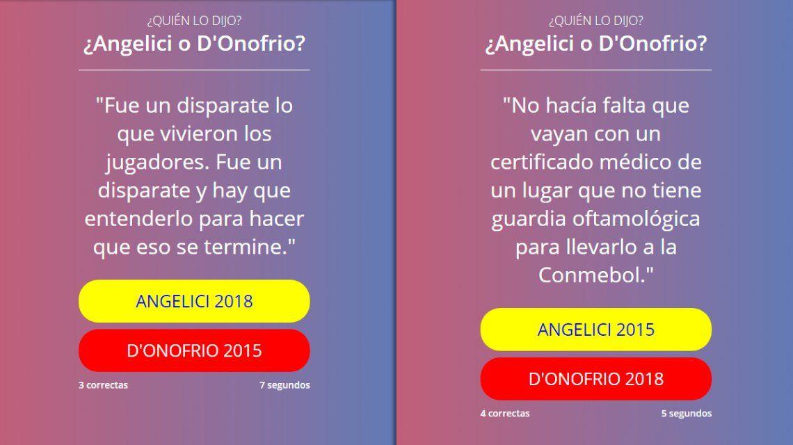 Lo que faltaba: ¿Angelici o DOnofrio? El desafío que llegó a las redes antes del fallo de Conmebol