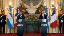 Macri recibió a Macron y le agradeció su apoyo en el acuerdo con el FMI