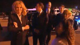 Gabriela Michetti intentó hablar con Macron y su mujer pero no pudo con el francés
