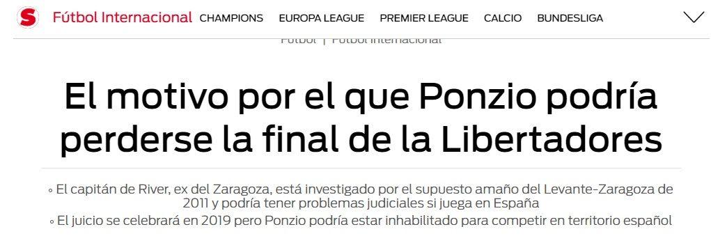 Una nueva polémica salpica la Superfinal: ¿Ponzio no puede jugar el partido?