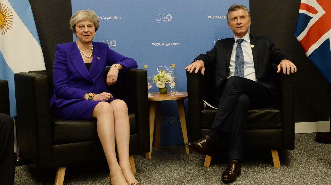 Theresa May y Mauricio Macri