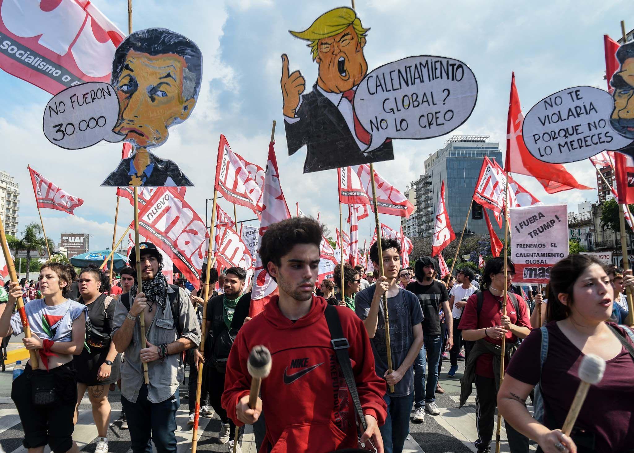 Marcha contra el G20 en Buenos Aires