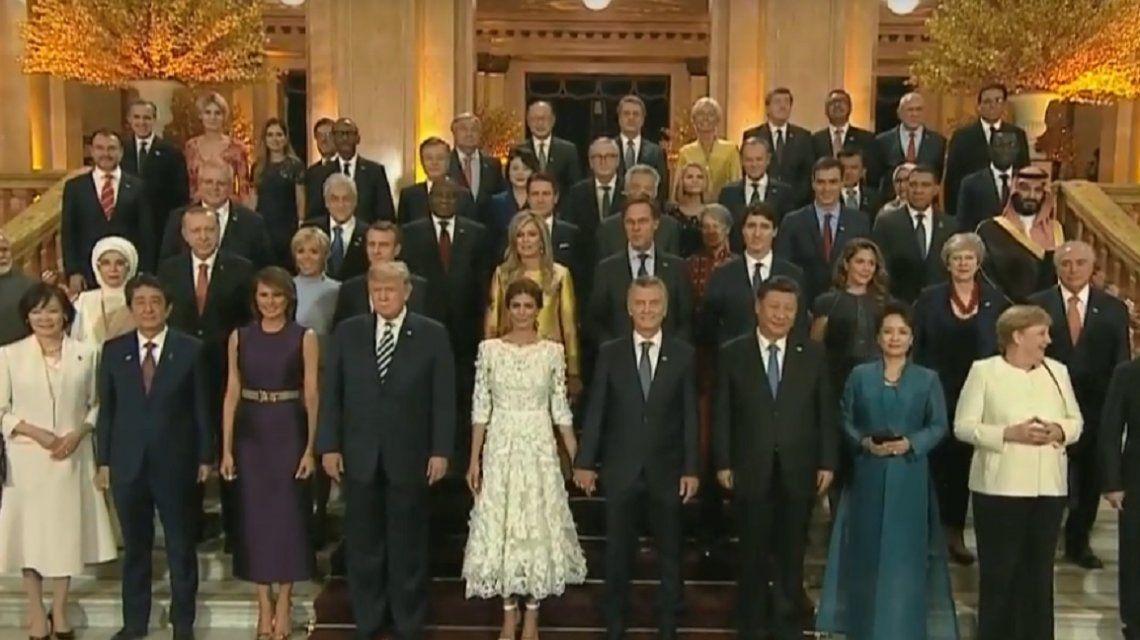 Macri y los líderes del G-20 asisten a una función de gala en el Teatro Colón