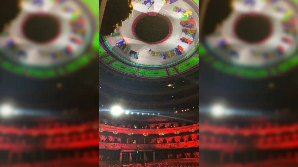 La reacción de los herederos de Raúl Soldi por la iluminación de la cúpula del Teatro Colón