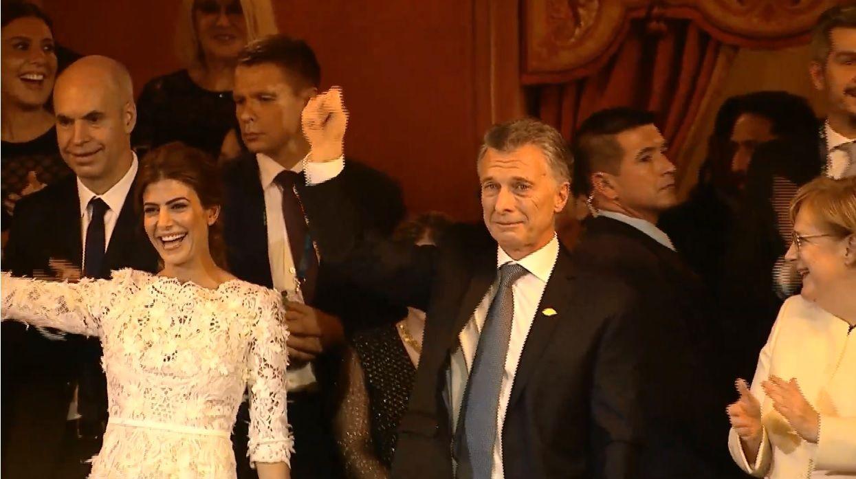 Mauricio Macri emocionado en la gala del Teatro Colón