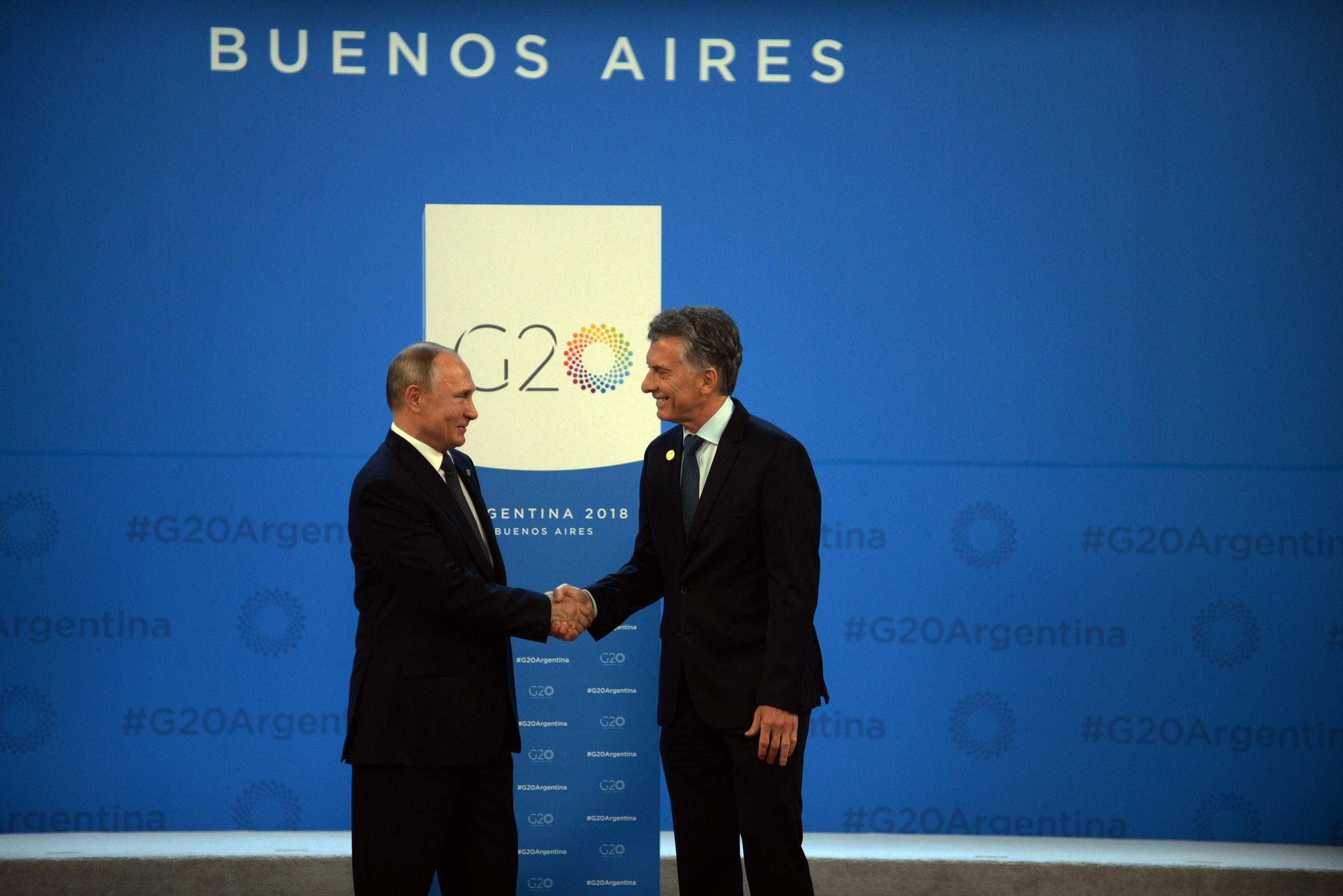 Vladimir Putin y Mauricio Macri