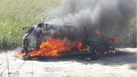 Así quedó el auto. Los acusaron de intento de homicidio