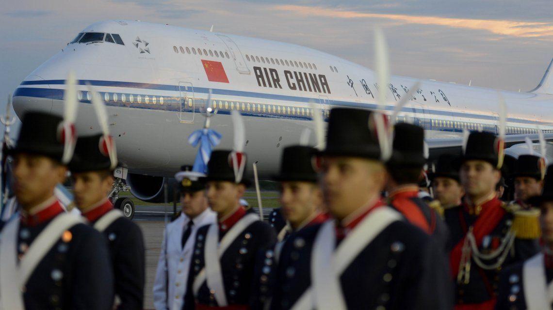 El avión de Air China trasladó a Xi Jinping