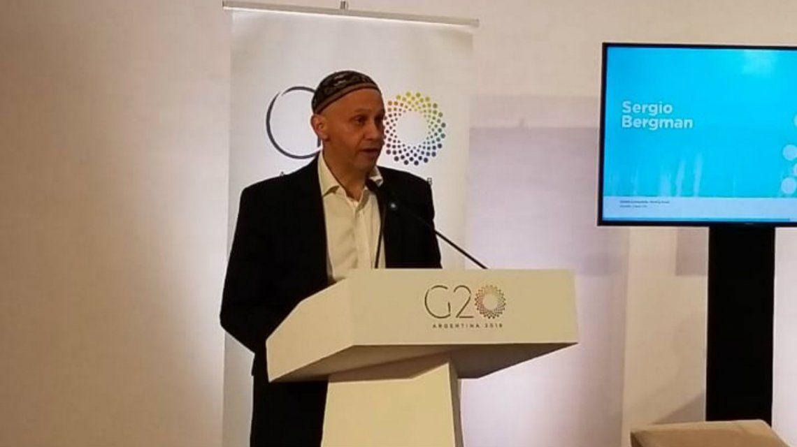 Sergio Bergman participó del G20