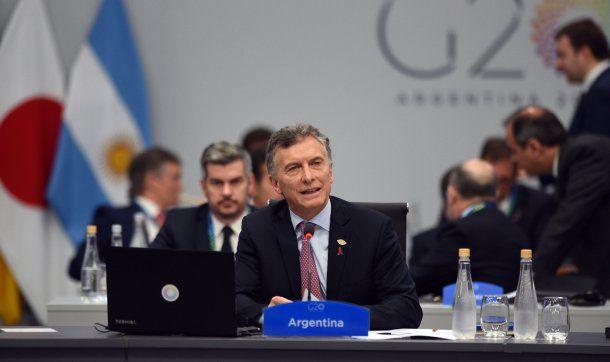 Mauricio Macri en el plenario del G20<br>