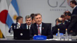 Mauricio Macri en el plenario del G20