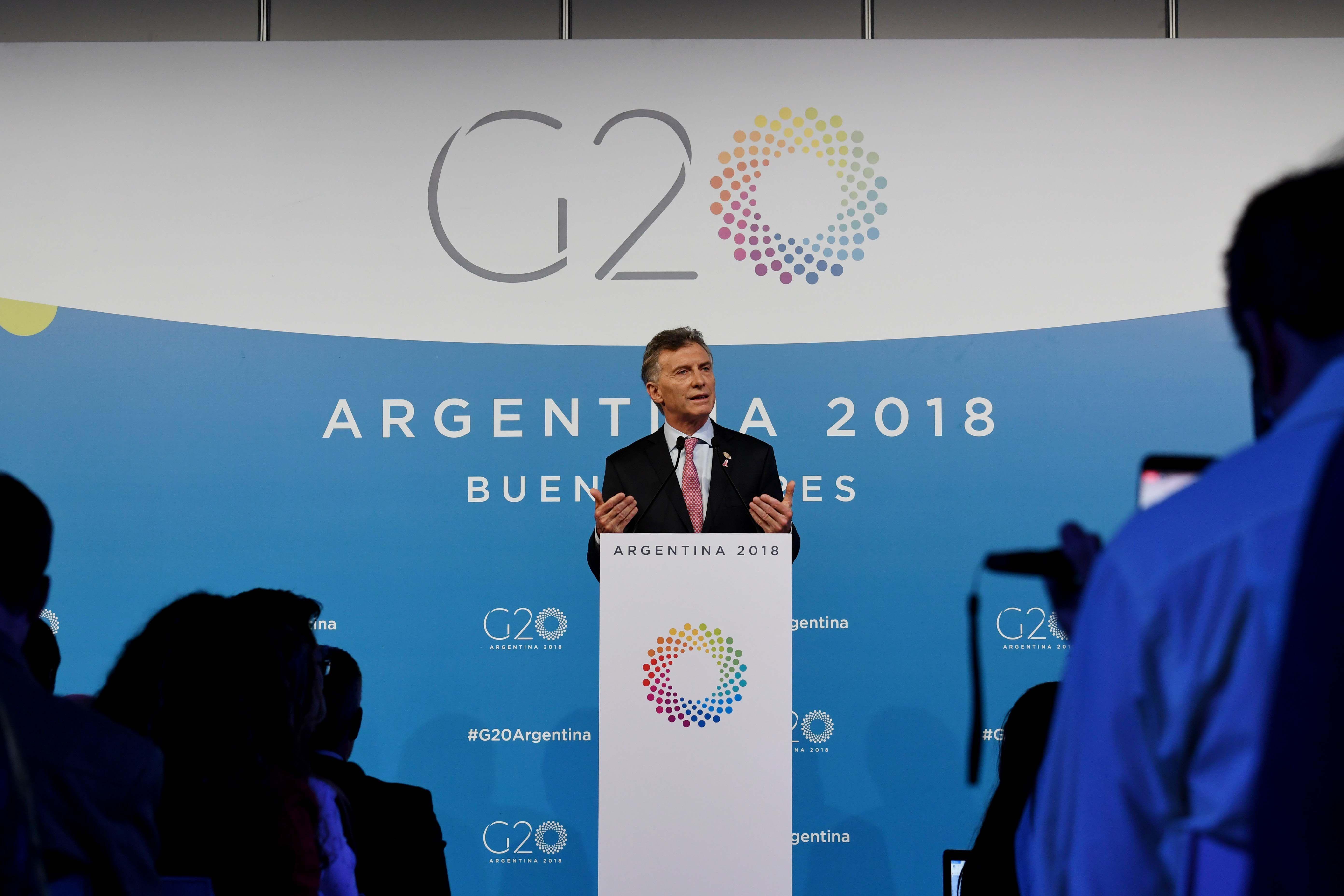 Mauricio Macri en conferencia de prensa