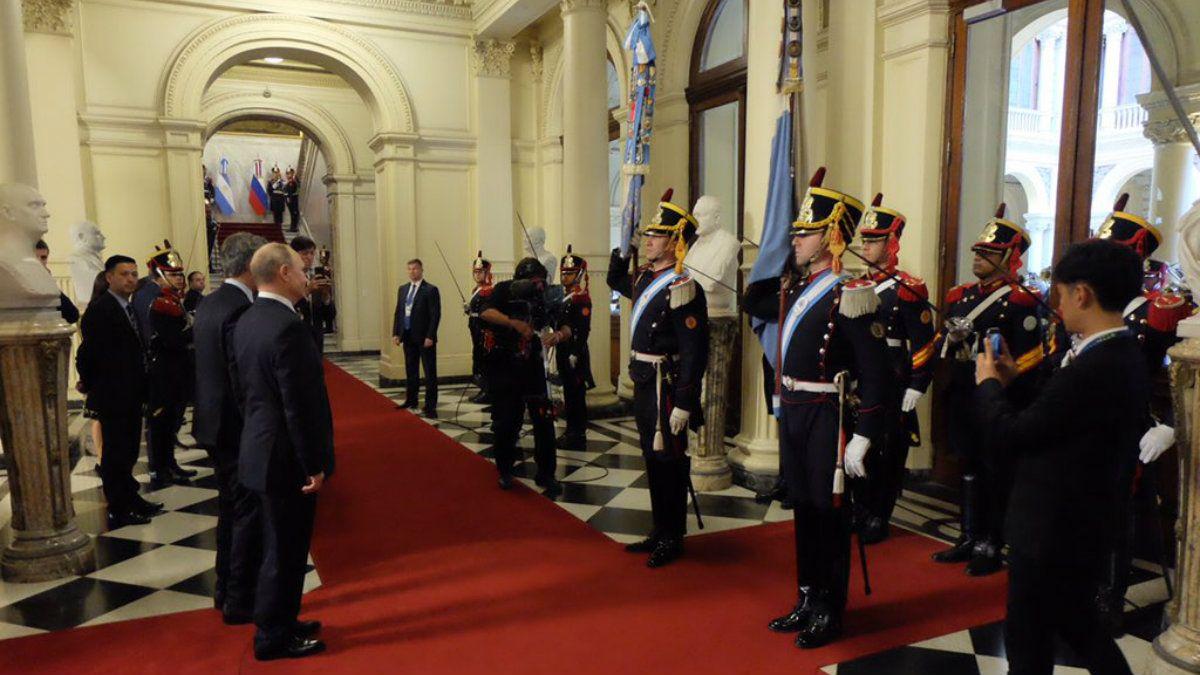 Macri se reunió con Putin en Casa Rosada