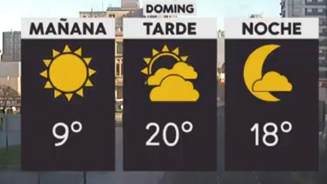 Pronóstico del tiempo del domingo 2 de diciembre de 2018