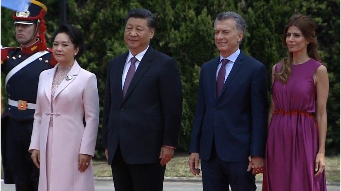 Macri recibió a Xi Jinping en la Quinta de Olivos