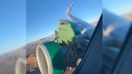 Pánico entre los pasajeros de un avión: se destruyó la turbina en pleno vuelo