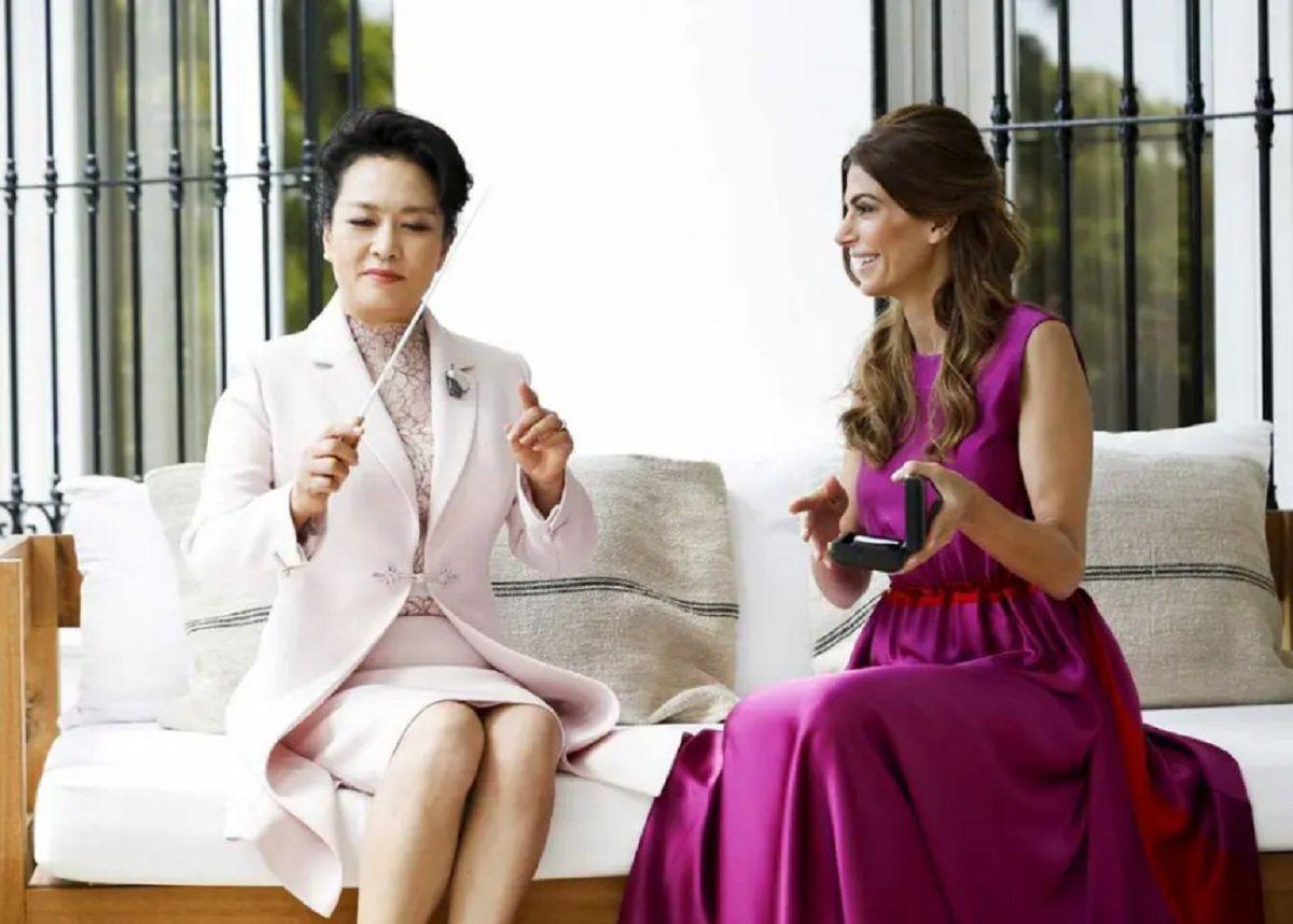 Las primeras damas Juliana Awada y Peng Liyuan