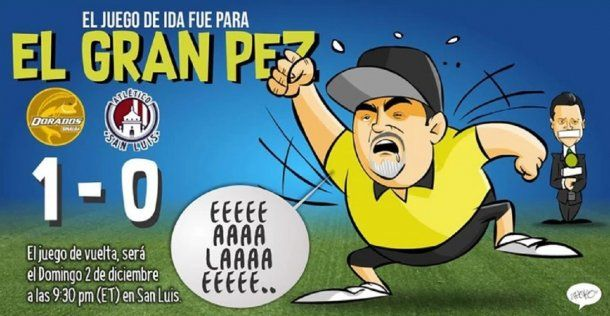 Caricatura de Diego Maradona en Dorados