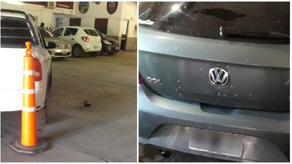 Chaco: un auto perseguía a los tiros a otro y terminaron en un estacionamiento policial