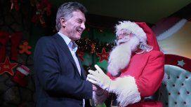 Mauricio Macri y Papá Noel