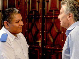 Mauricio Macri y Luis Chocobar
