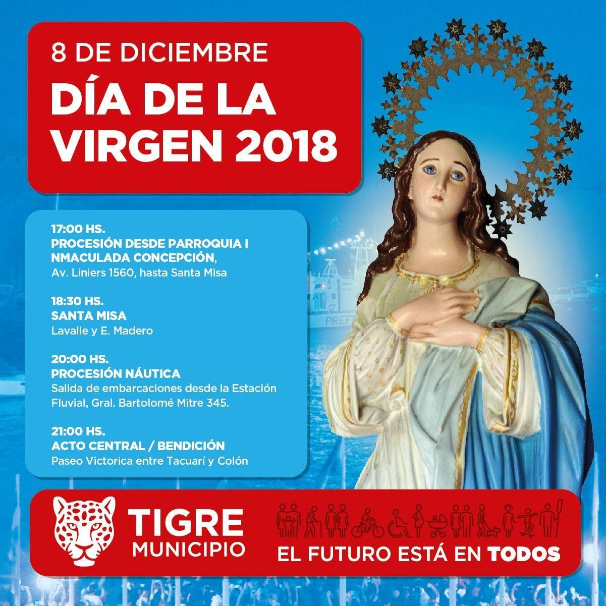 Tigre prepara los festejos del Día de la Virgen