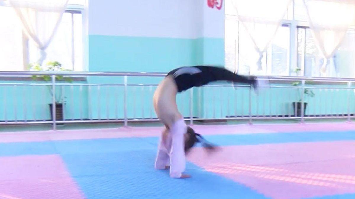 Entrenamiento de artes marciales de niños en China