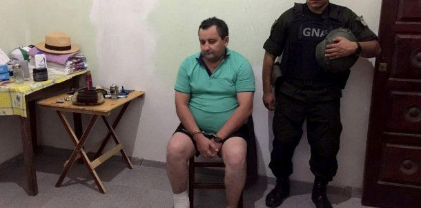 El ex intendente de Itatí, Natividad Terán, cuando fue detenido por narcotráfico.