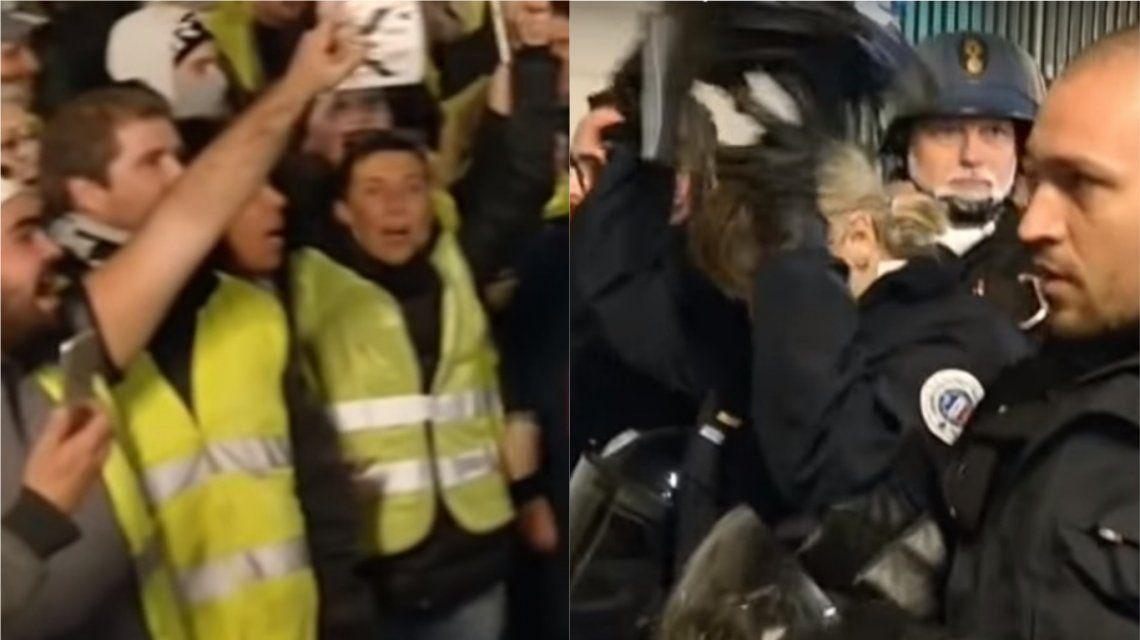 La policía de Francia se negó a reprimir a los chalecos amarillos
