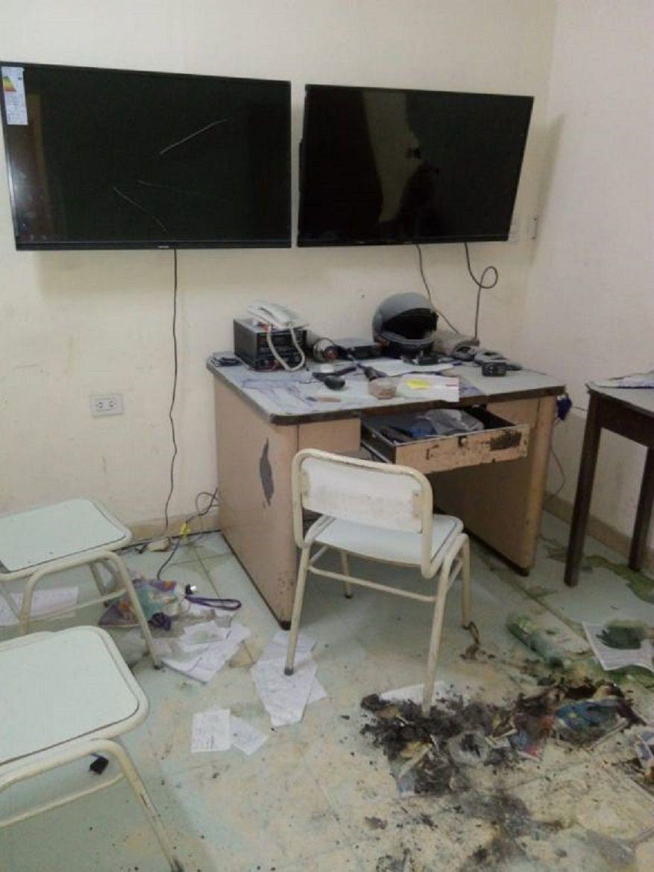 Violento motín en una comisaría de Santiago del Estero. Foto: El Panorama.