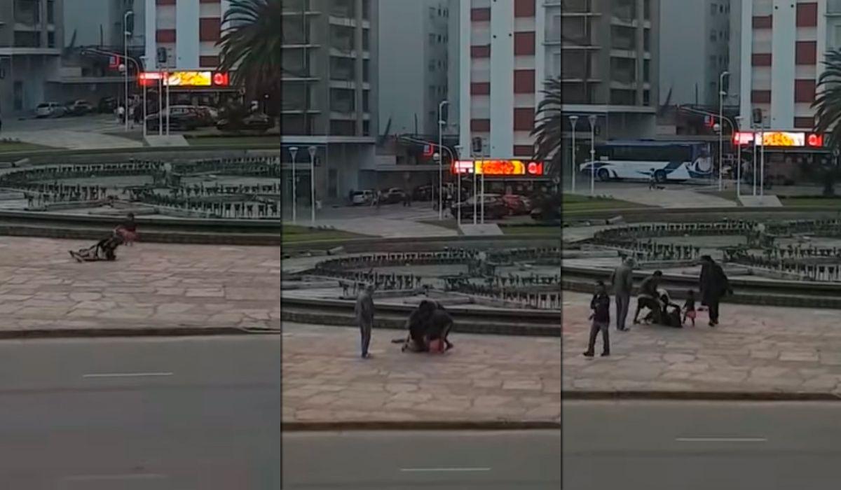 Feroz pelea entre dos mujeres delante de una nena en pleno centro de Mar del Plata