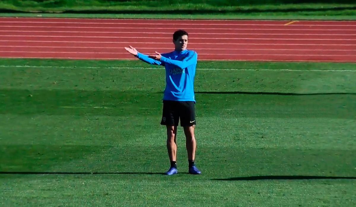 Caliente: la primera práctica de Boca en Madrid tuvo un cruce entre Gago y Pablo Pérez