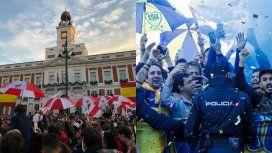Ya se juega la Superfinal: los hinchas de River y Boca coparon Madrid