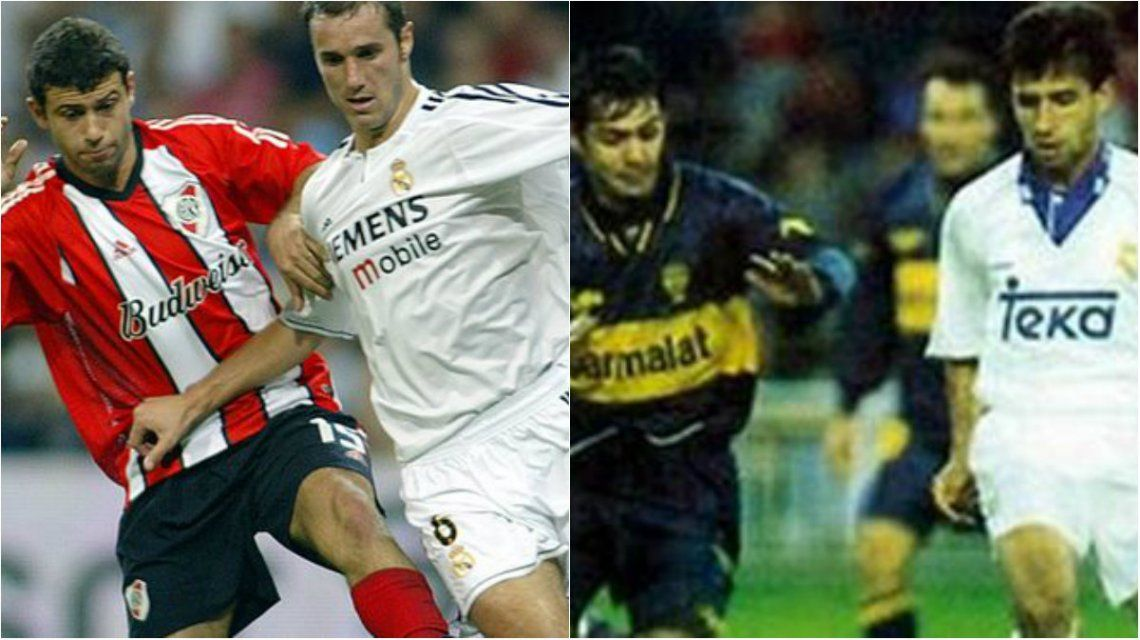 River jugó cuatro partidos y Boca uno en el estadio Santiago Bernabéu