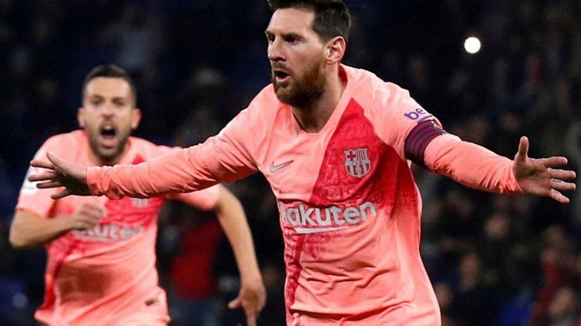 Con dos goles de Messi, Barcelona goleó a Espanyol en el clásico catalán