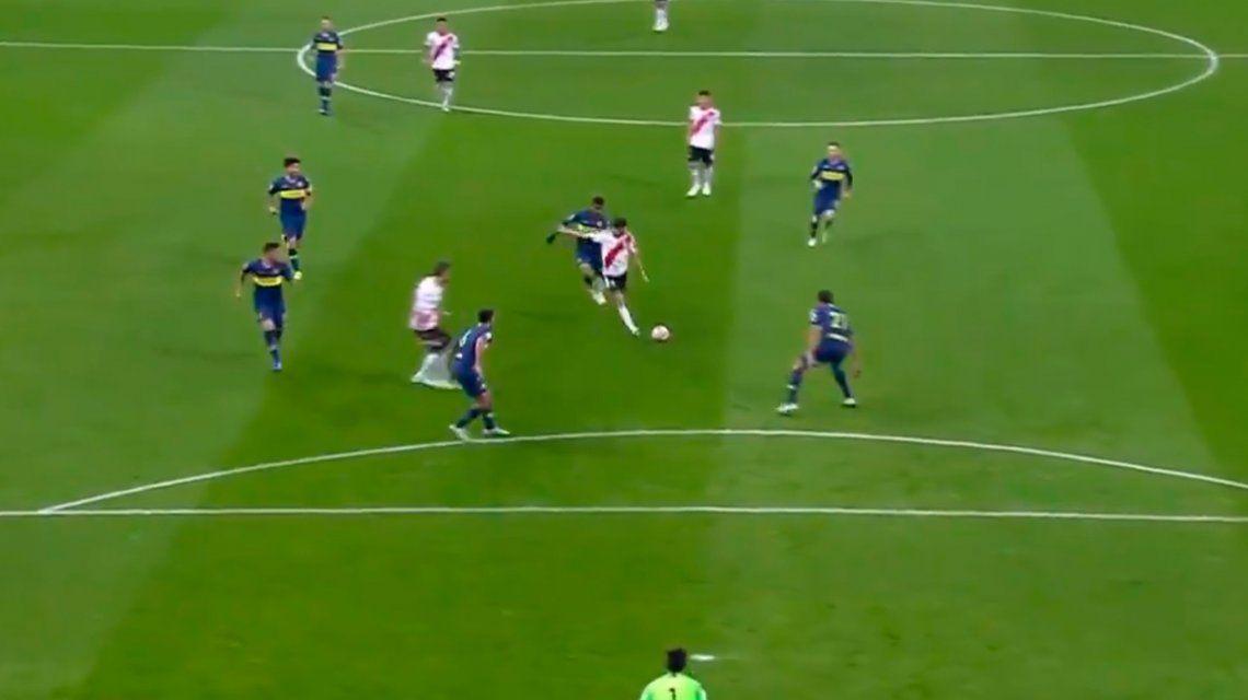La primera de River: Nacho Fernández casi marcó el empate