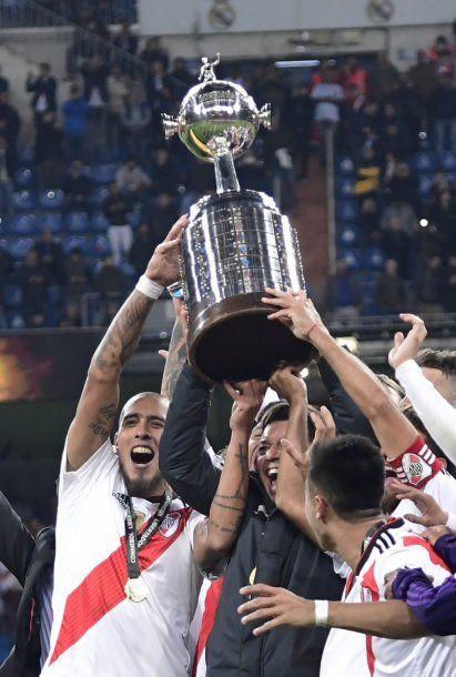 River le ganó la Libertadores a Boca - Crédito: @CARPoficial